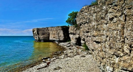 Little Known Limestone Caves and Cliffs Hidden along Lake Manitoba's Shoreline
